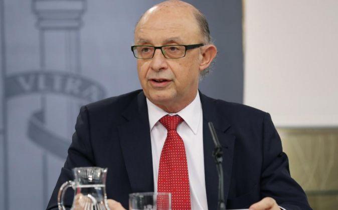 El ministro de Hacienda Cristóbal Montoro.