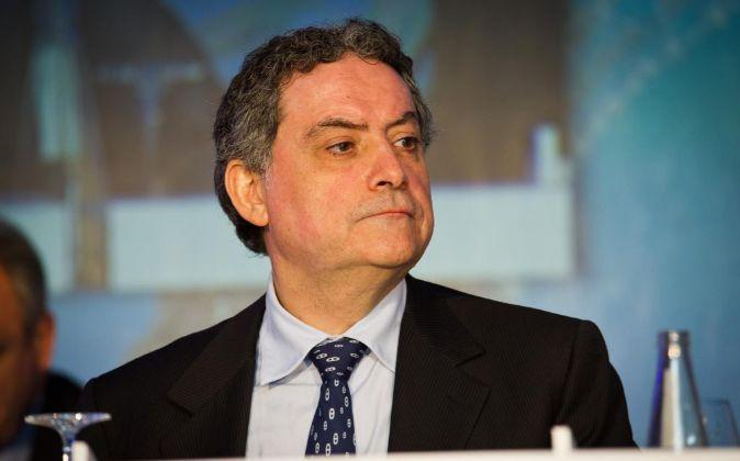 José Antonio Castro, copresidente de NH, en la junta general de...