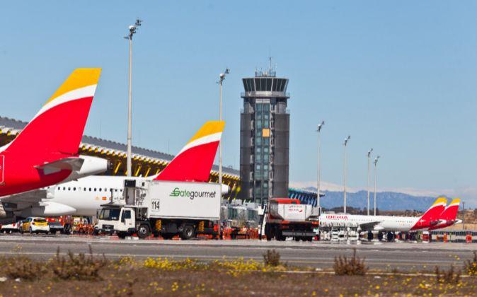 Aviones de Iberia en el Aeropuerto Adolfo Suárez Madrid-Barajas