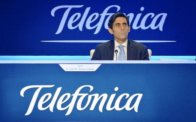 José María Álvarez-Pallete, presidente de Telefónica, en la pasada...