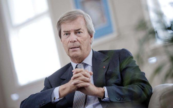 Vincent Bollore, presidente y mayor accionista de Vivendi.