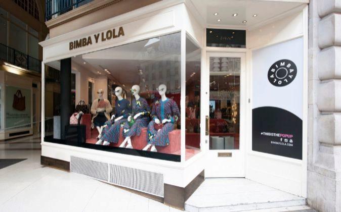 Imagen de la pop up store de Bimba y Lola en Regent Street (Londres).