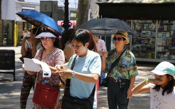 Turistas chinos en Barcelona