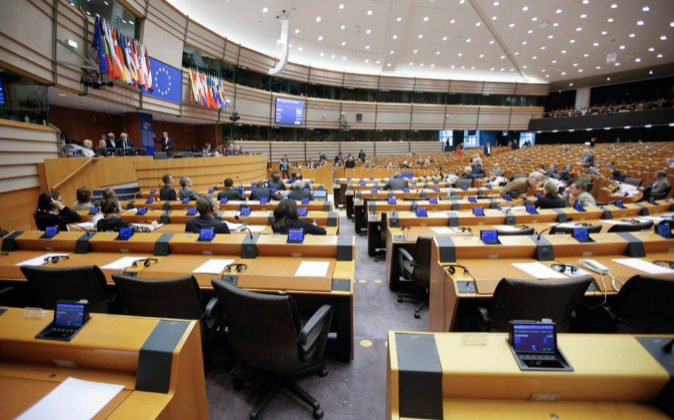 Vista del Parlamento Europeo durante una sesión plenaria.