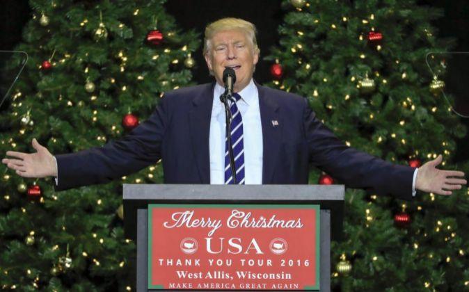 El presidente electo de Estados Unidos, Donald Trump.