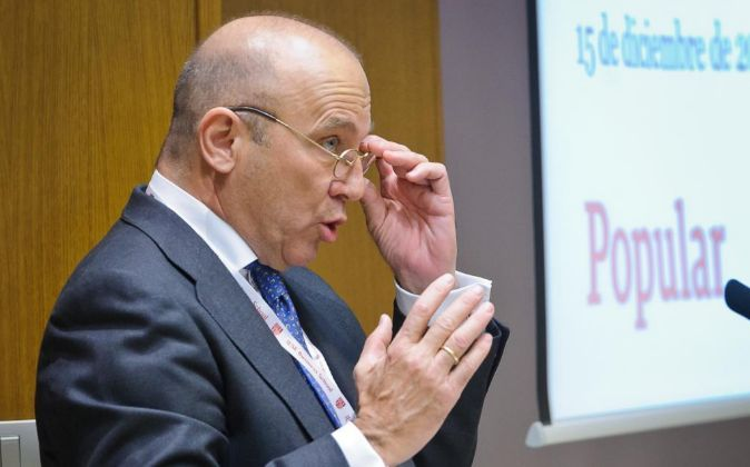 Pedro Larena, CEO de Banco Popular, durante el XII encuentro del...