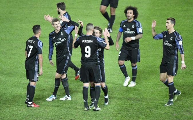El Real Madrid durante su partido de semifinales ayer en Japón.