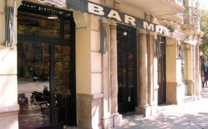 Un bar en Barcelona.
