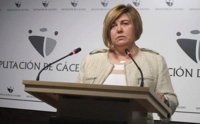 Rosario Cordero, presidenta de la Diputación de Cáceres.