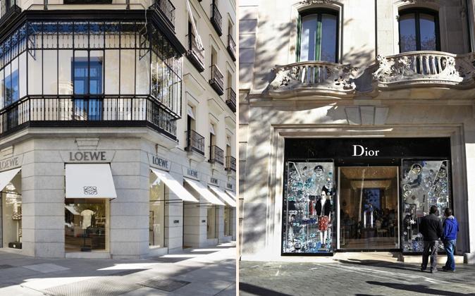 A la izquierda, la nueva Maison Loewe, inaugurada a finales de...