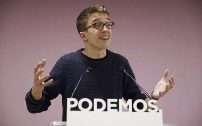 El secretario político de Podemos Iñigo Errejón.