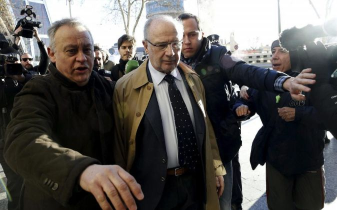El exvicepresidente del Gobierno Rodrigo Rato, a su llegada los...