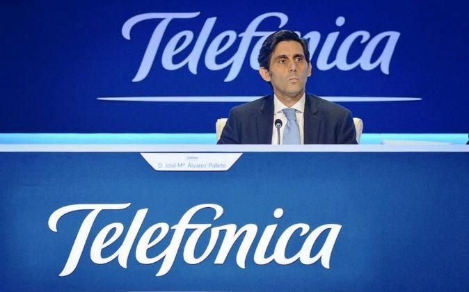 El presidente de Telefónica, José María Álvarez-Pallete.
