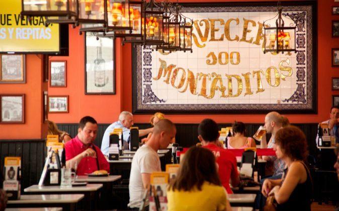 Restaurante 100 Montaditos.