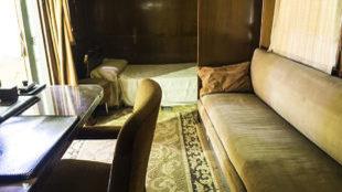 Imagen del interior del Ford 817-T convertido en un...