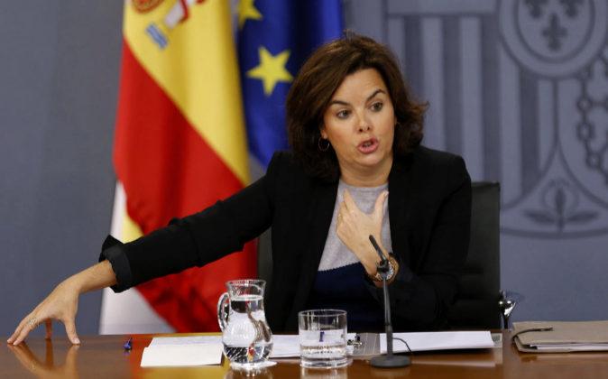 Soraya Sáenz de Santamaría, vicepresidenta del Gobierno y ministra...