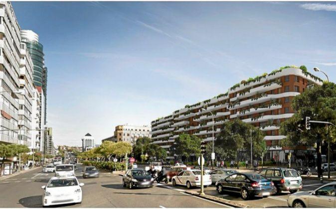 Imagen del proyecto del Residencial Maravillas, que se prevé levantar...