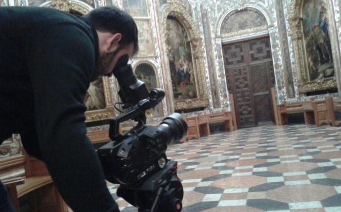 Grabación del documental 'Los Caminos del Emperador' en la...