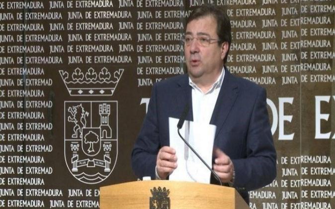 El presidente de la Junta de Extremadura, Guillermo Fernández Vara...
