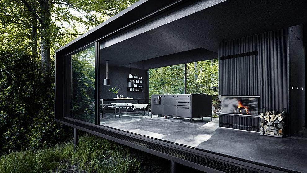 Vista de la cocina y la chimenea del alojamiento, que se vende bajo el...