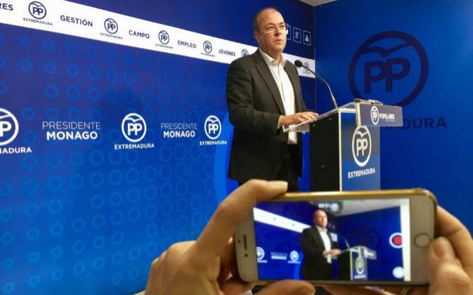 El presidente del PP de Extremadura, José Antonio Monago.
