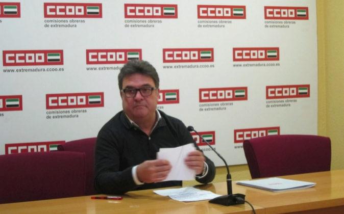 El actual secretario general de Comisiones Obreras Extremadura,...