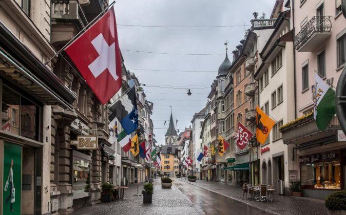 Calle de Zúrich (Suiza).