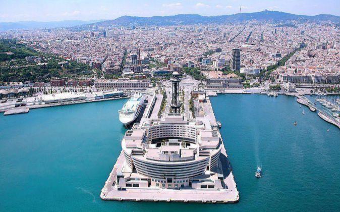 Vista aérea del WTC de Barcelona