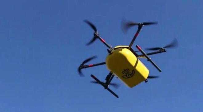 Correos está probando la entrega con drones en Asturias.