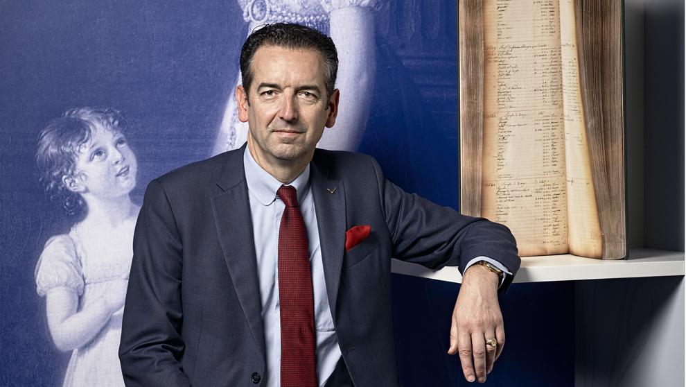 Emmanuel Breguet, 54 años, en el Teatro Real de Madrid.