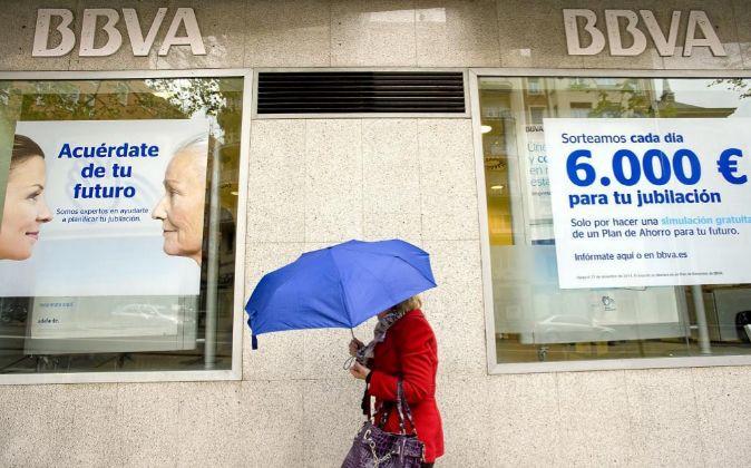 Sucursal bancaria de BBVA.