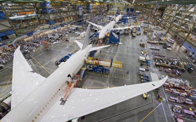 Fábrica boeing ensamblaje 787 dreamsliner.