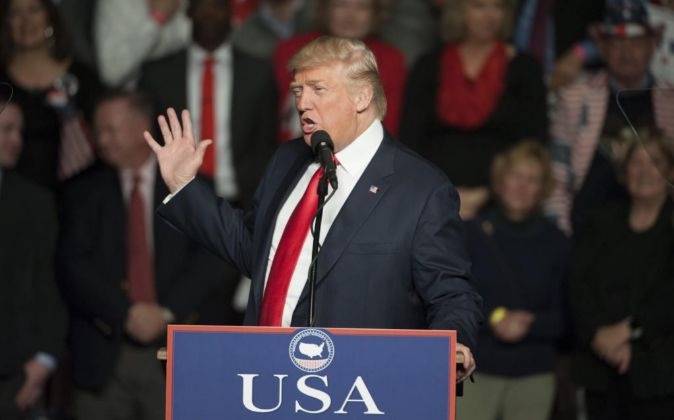 El presidente electo Donald Trump, durante una intervención en...