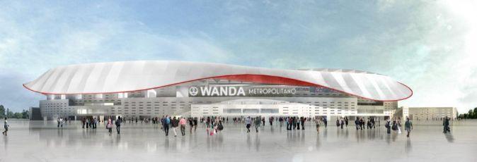 Recreación del nuevo Estadio del Atlético de Madrid, el Wanda...