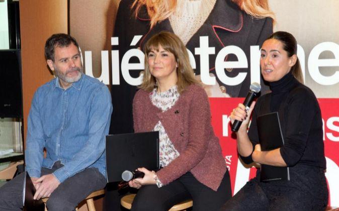 José Luis Moro, María Coronado y Magali Yus en la presentación de...