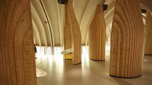 Una de las salas interactivas de Le Cité du Vin,  dedicada al vino...
