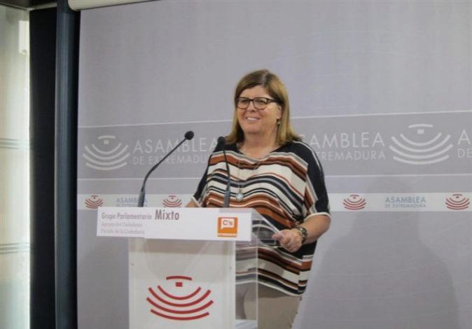 Victoria Domínguez, portavoz regional de Ciudadanos.