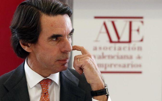 El expresidente del Gobierno y del PP José María Aznar.