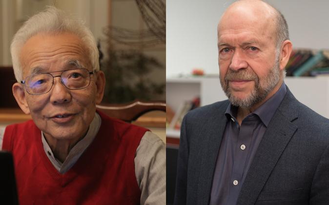 En la imagen Syukuro Manabe y James Hansen.