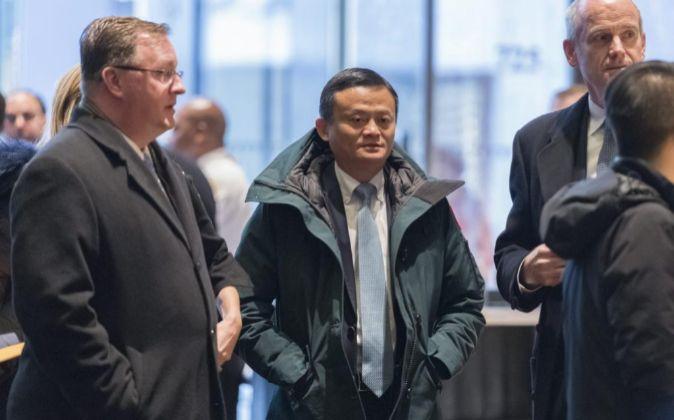 El fundador del gigante de comercio electrónico chino Alibaba, Jack...