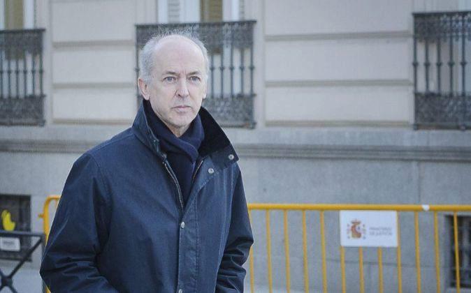 Felipe Benjumea, cuando acudió a declarar a la Audiencia Nacional.