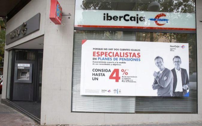 Una de las 1.256 sucursales de Ibercaja.