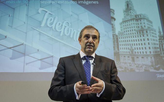 Luis Miguel Gilpérez, el presidente de Telefónica España.