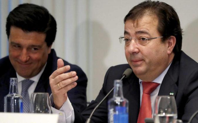 El presidente de Extremadura, Guillermo Fernández Vara, hoy en un...