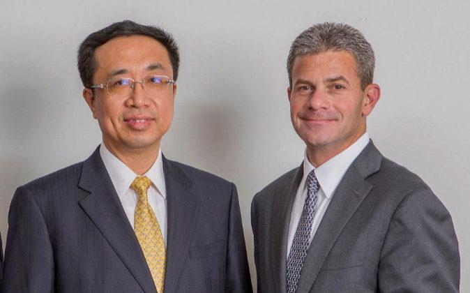 Peng Xuefeng y Elliott Portnoy, que cerraron la fusión de las firmas...