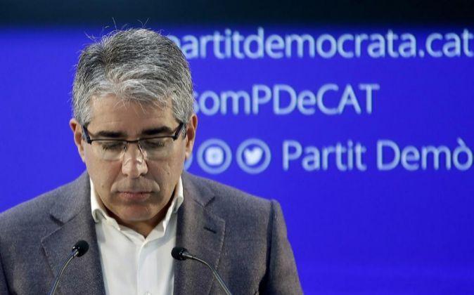El portavoz del Partido Demócrata (PDeCAT), Francesc Homs.