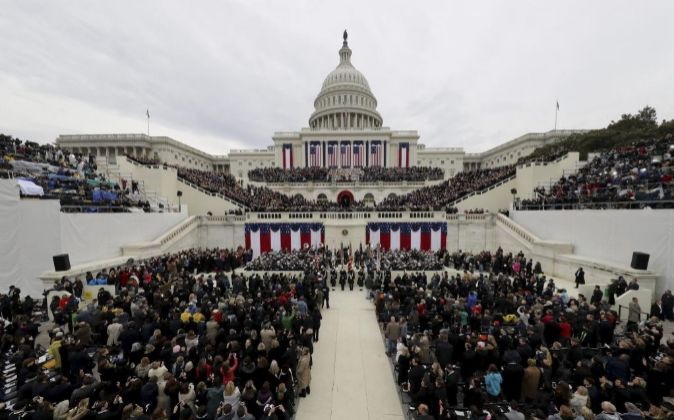 Vista general de la ceremonia de investidura de Donald J. Trump para...