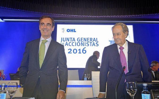 Junta General de Accionistas OHL 2016. En la imagen, Juan Miguel...