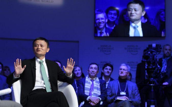 El fundador y presidente ejecutivo del grupo Alibaba, Jack Ma,...