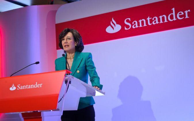 Ana Botín es la presidenta de Santander